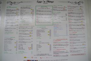 グアム Eggs'n Things メニュー表